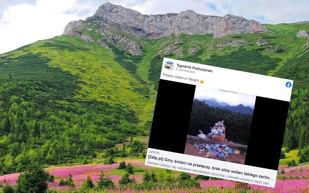 Tatry. Sterta śmieci na popularnym szlaku. 'Nie ma słów dostatecznie obelżywych'