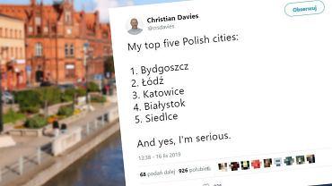 Dziennikarz wymienił pięć ulubionych miast w Polsce. Komentujący zdziwieni