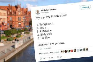 """Dziennikarz """"The Guardian"""" wymienił pięć ulubionych miast w Polsce. Jego wybór zaskoczył ludzi"""