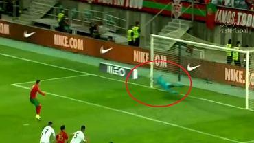 Pudło Cristiano Ronaldo z rzutu karnego w meczu Portugalia - Irlandia