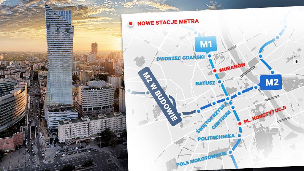 W Warszawie będą nowe stacje metra
