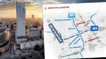 Stacje metra w centrum Warszawy dwa razy gęściej. Rozrzutność? Urbanista: Brak konsekwencji