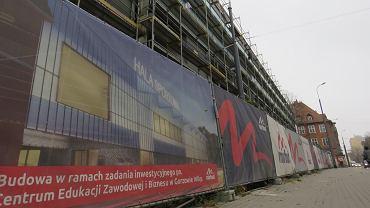 Budowa Centrum Edukacji Zawodowej i Biznesu w Gorzowie. Listopad 2020 r.