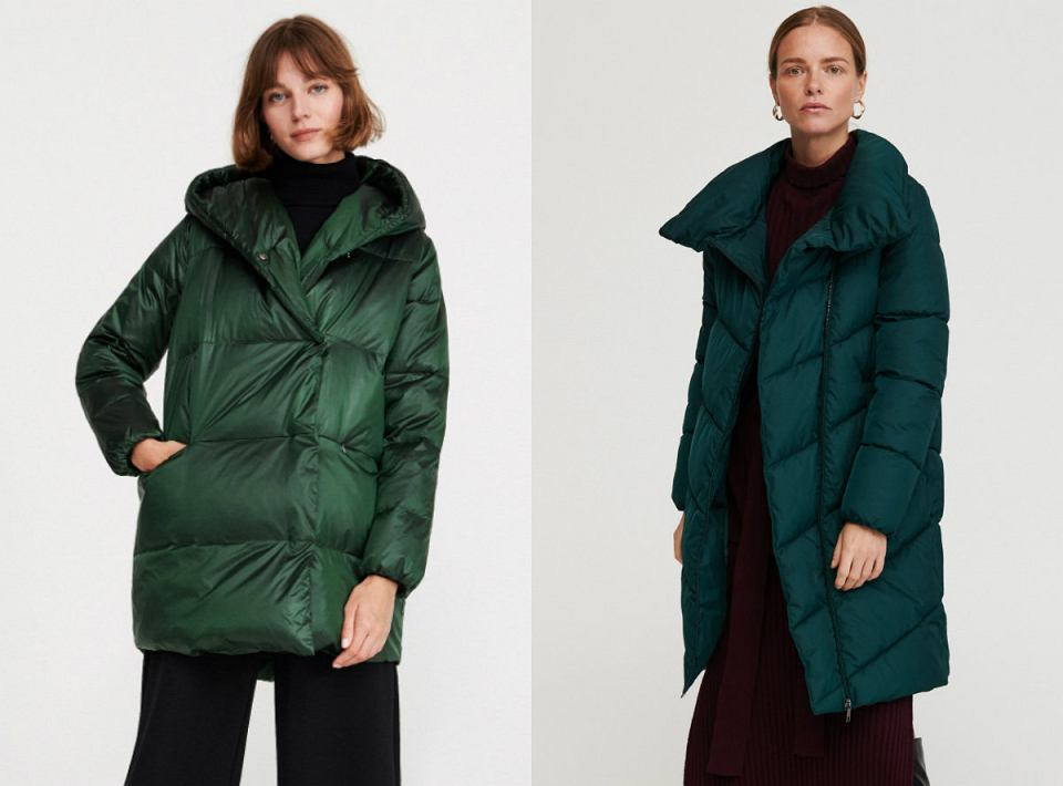 Szmaragdowe kurtki na zimę