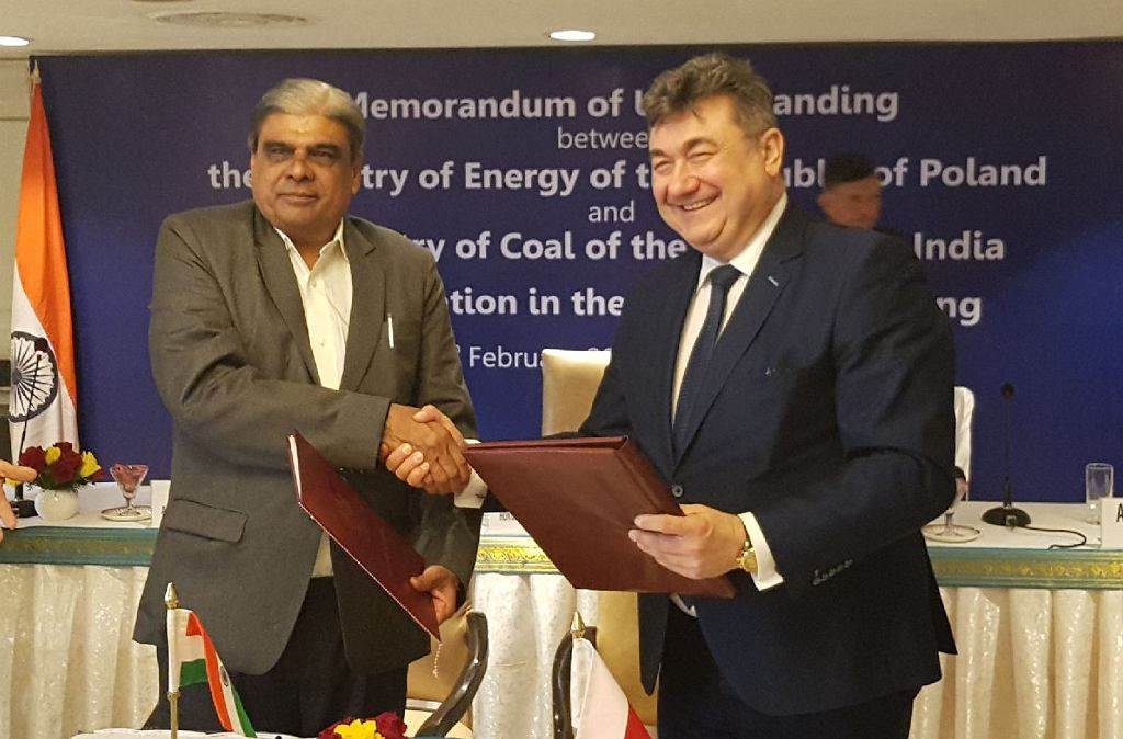 Podpisanie porozumienia o współpracy w dziedzinie górnictwa między Polską a Indiami