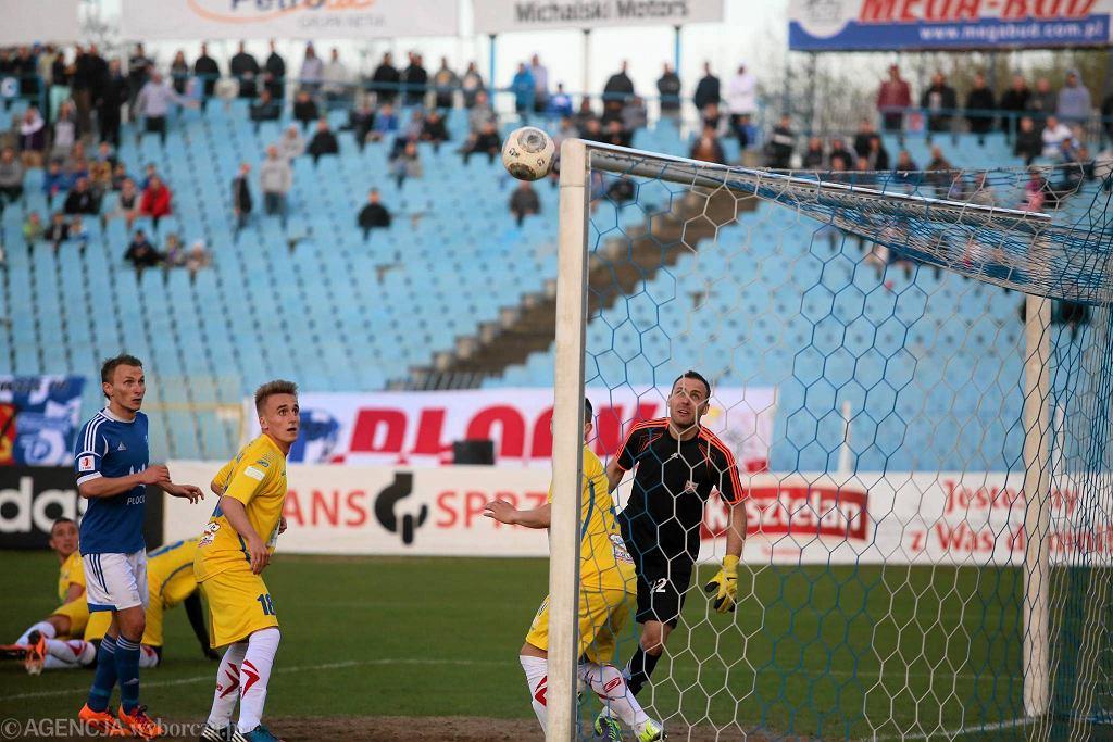 Piłka nożna, I liga. Wisła Płock - Kolejarz Stróże 1:0