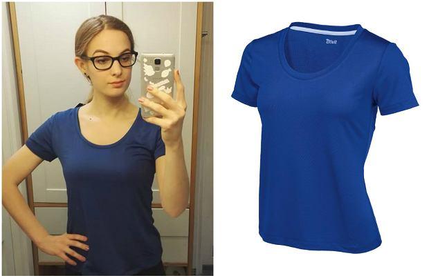 Agnieszka w koszulce Crivit LIDL z systemem regulacji wilgoci