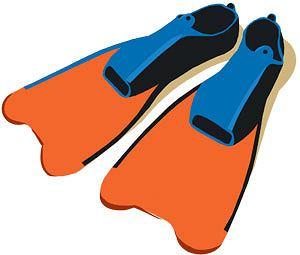 ćwiczenia, Ćwiczenia: ja dobrze pływać kraulem, Płetwy