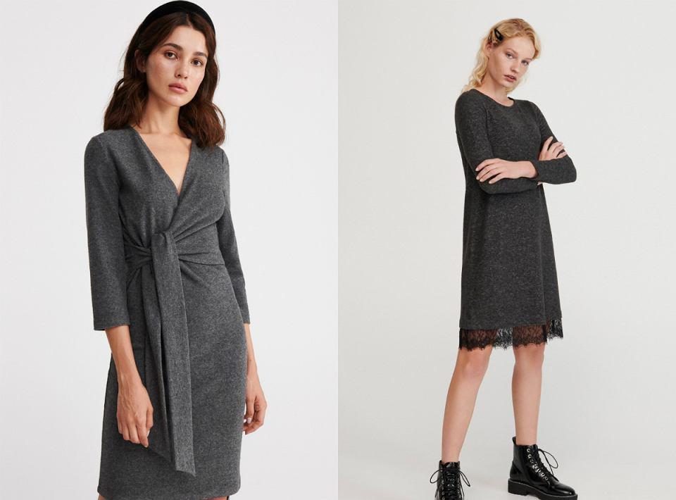 szare sukienki Reserved