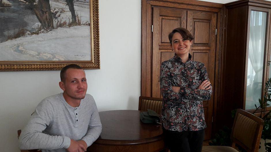 Jewgienij i Anna Dąbrowska, prezeska Stowarzyszenia Homo Faber