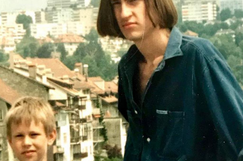 Marcin Prokop z bratem Sebastianem
