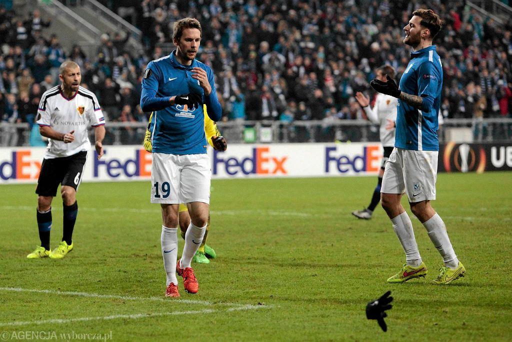 Lech Poznań - FC Basel 0:1. Kasper Hamalainen i Tamas Kadar