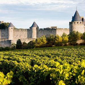 Widok na Carcassonne.