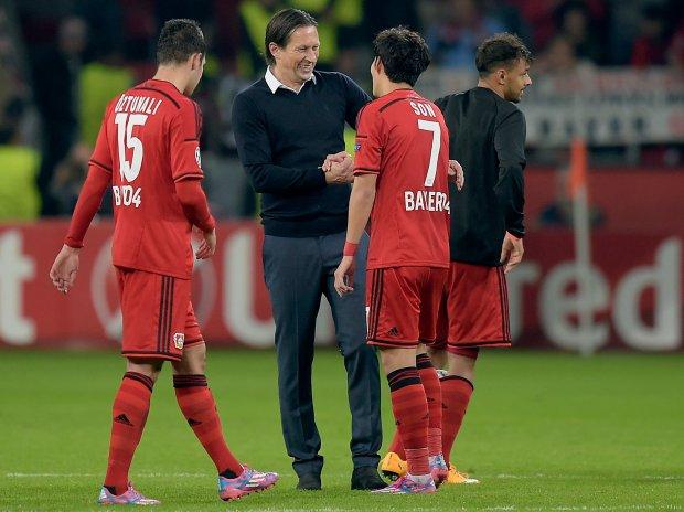 Leverkusens head coach Roger Schmidt