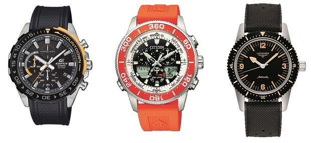 """5 zegarkowych propozycji """"LOGO"""": na kauczukowym pasku"""