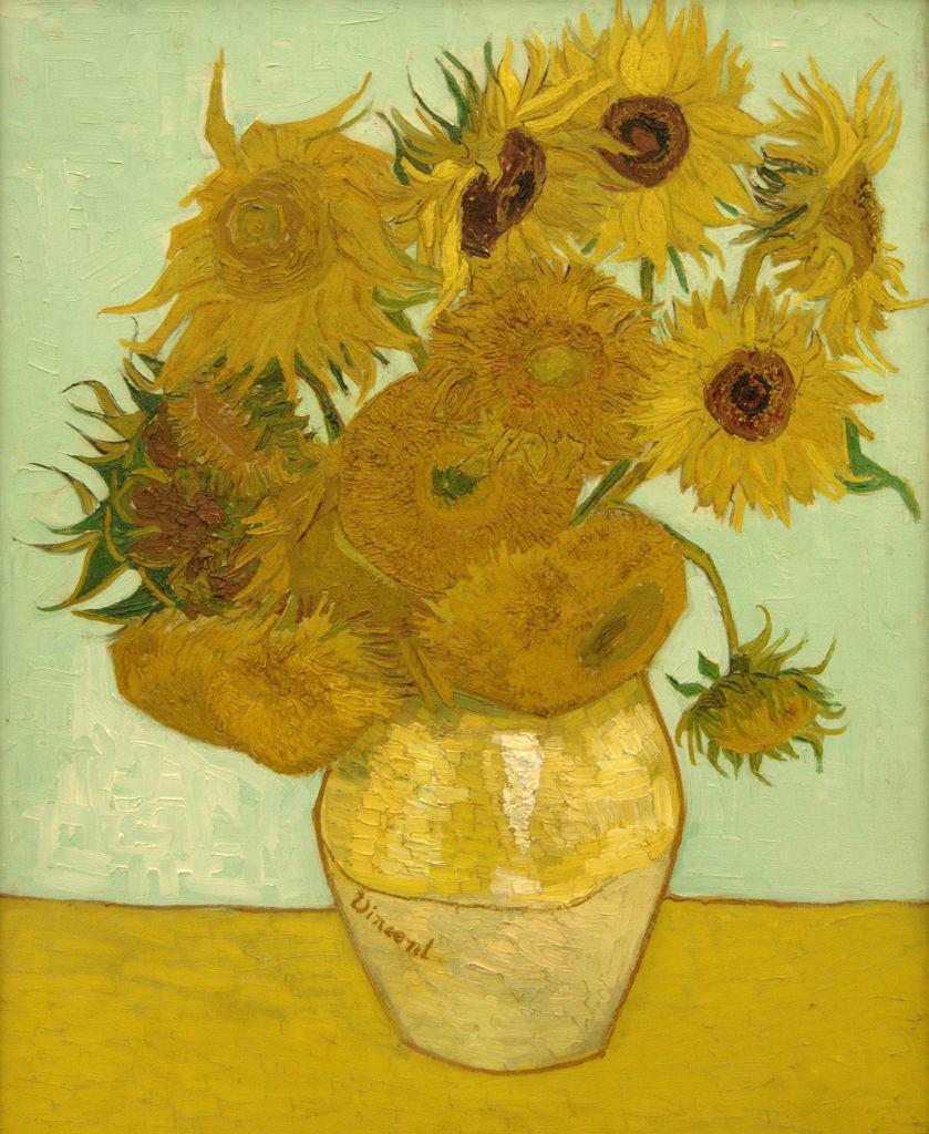 Vincent van Gogh, Martwa natura: wazon z dwunastoma słonecznikami, 1888 / Wikimedia commons