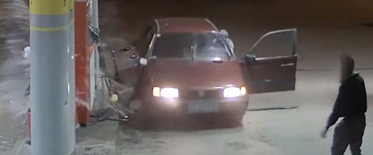 Ukradli paliwo ze stacji za 200 zł, uszkodzili samochód i dystrybutor