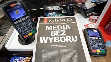10.02.2021, akcja 'Media bez wyboru', Gazeta Wyborcza