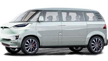Wizualizacja minibusa Tesli