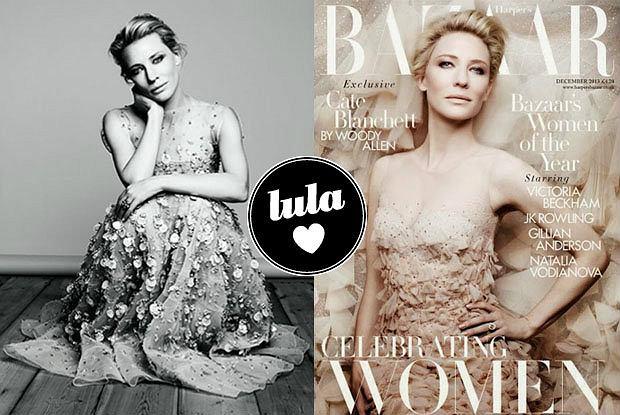 """Cate Blanchett w kreacjach Armaniego w grudniowym """"Harper's Bazaar"""" - zobaczcie piękną sesję prawdziwej ikony stylu!"""
