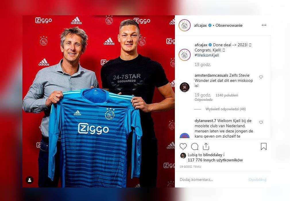 Kjell Scherpen piłkarzem Ajaxu Amsterdam