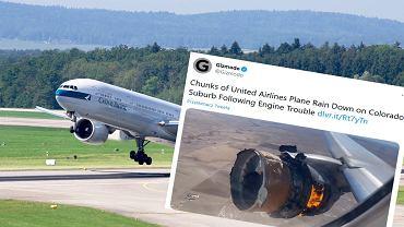 USA. Awaria podczas lotu Boeinga 777. Na ziemię spadły odłamki silnika