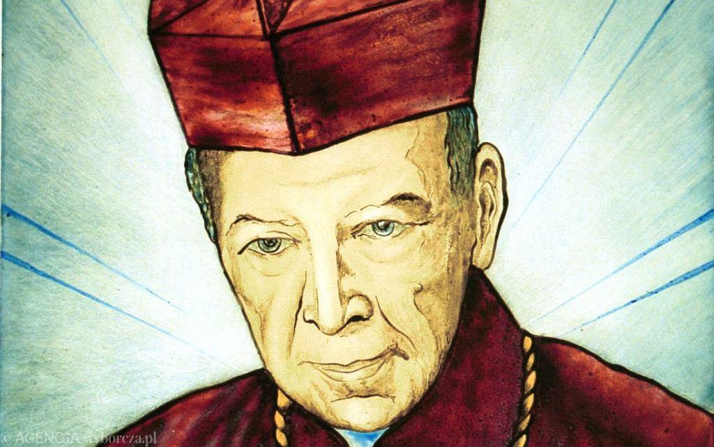 Kardynał Stefan Wyszyński jest obiektem zainteresowania artystów. Tu witraż do katedry w Kielcach