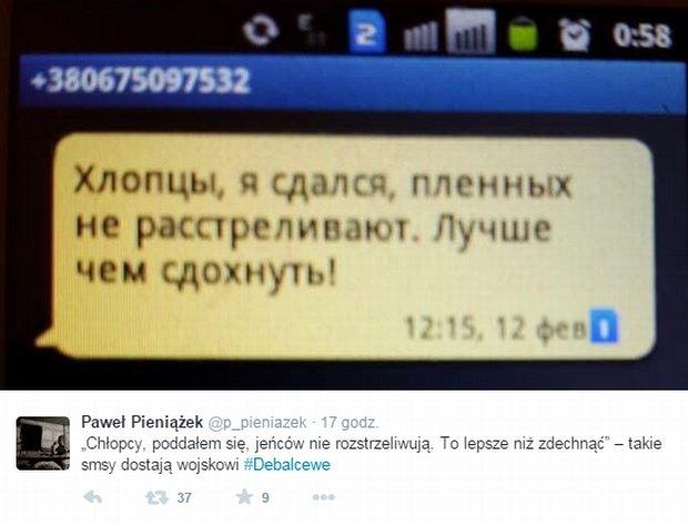 Tweet Pawła Pieniążka