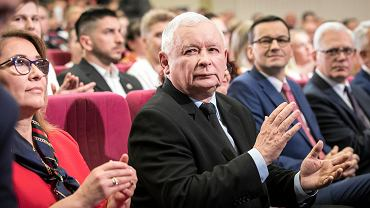 Beata Mazurek, Jarosław Kaczyński, Mateusz Morawieci