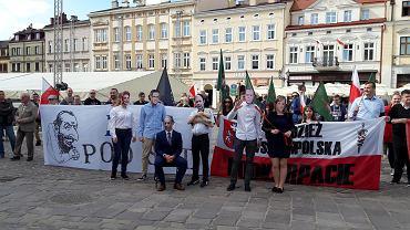 Manifestacja 'Nie dla roszczeń żydowskich' w Rzeszowie
