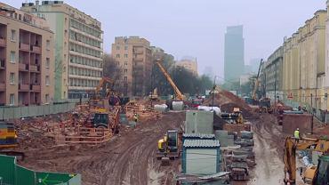 Tak powstaje metro w Warszawie