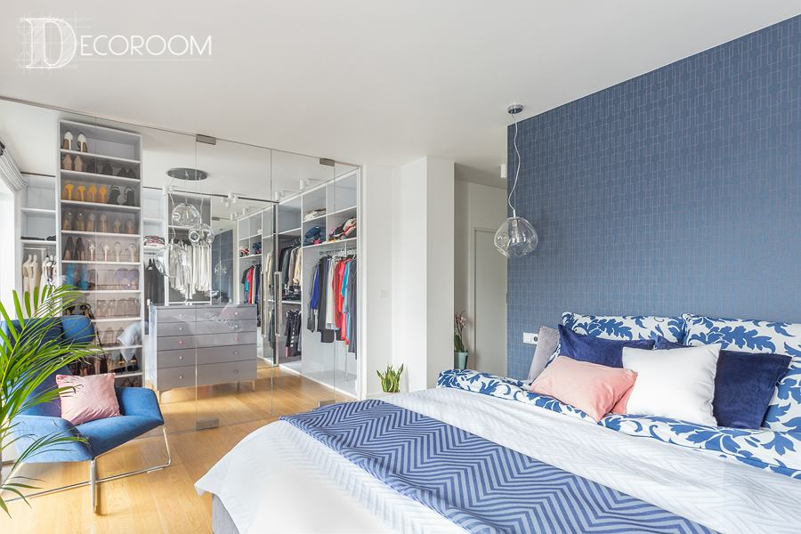 Sypialnia wraz z przylegającą do niej garderobą