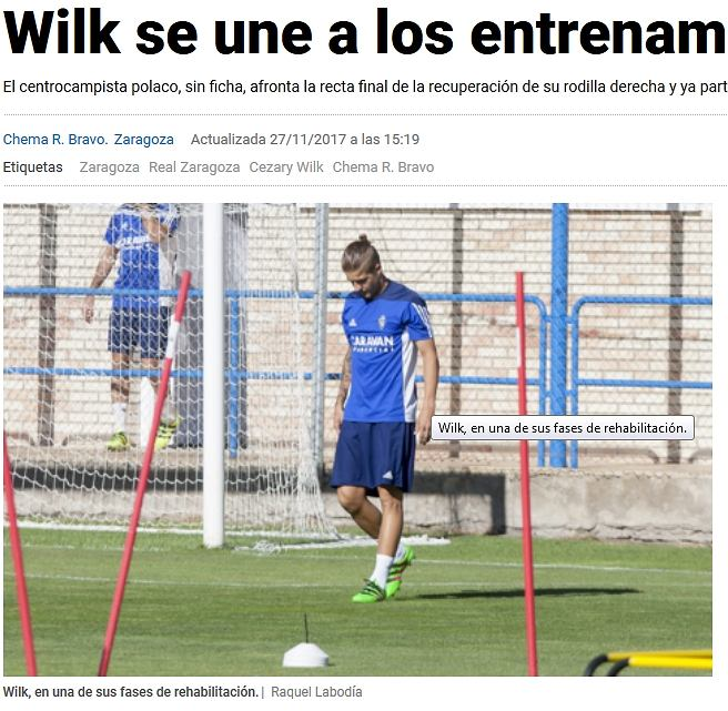 Cezary Wilk na treningu