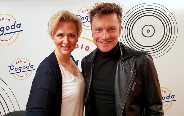 Anna Stachowska i Kuba Wesołowski w studiu Radia Pogoda