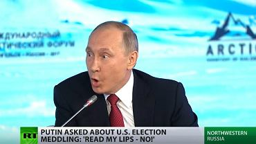 Władimir Putin w Russia Today o ingerencji Rosji w wybory w USA: Czytajcie z ruchu warg - NIE!