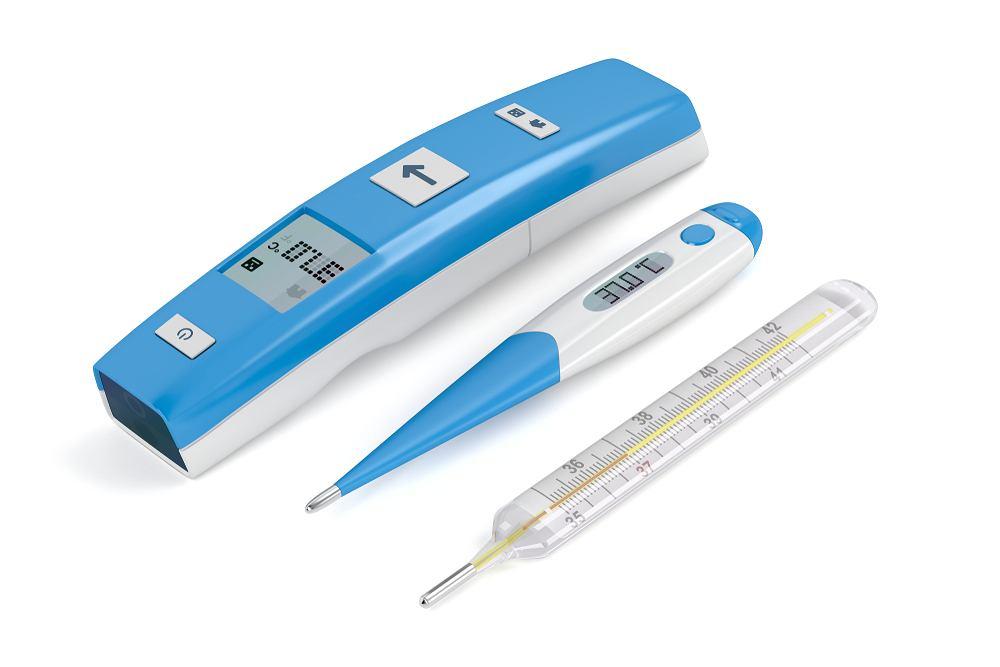 Termometr, przyrząd służący do pomiaru temperatury ciała, znajduje się w każdym domu.