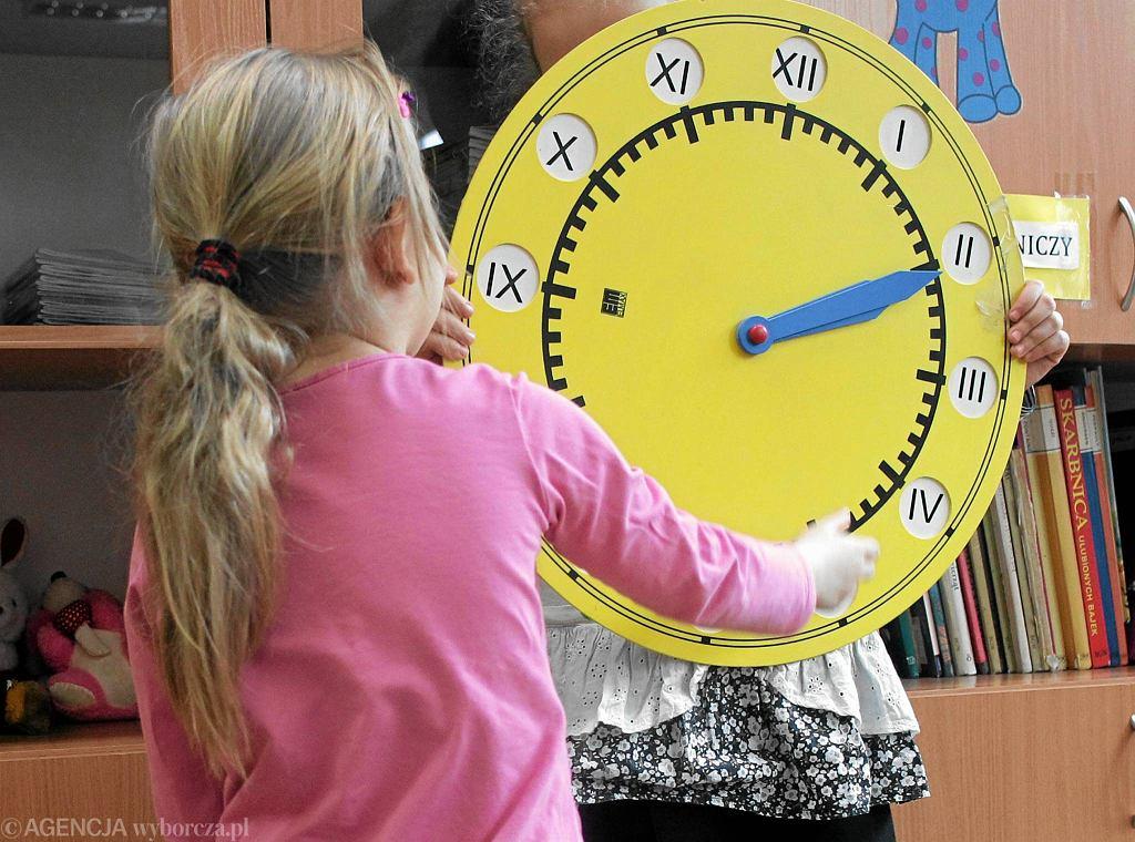 Lekcja sześciolatków w SP nr 275 na Targówku