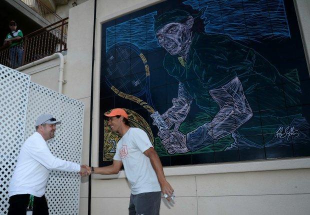 Rafa Nadal, mural