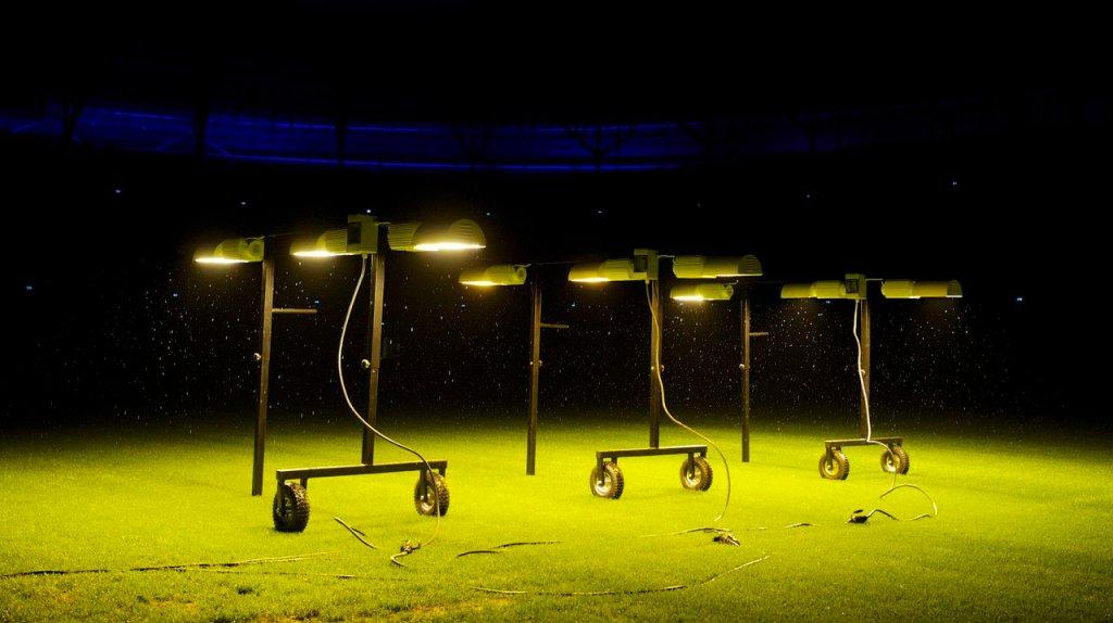 Lampy na stadionie we Wrocławiu