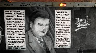 Graffiti poświęcone Henrykowi Sławikowi