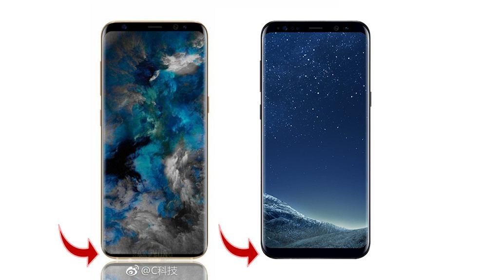 Porównanie nieoficjalnej wizualizacji Galaxy S9 z Galaxy S8