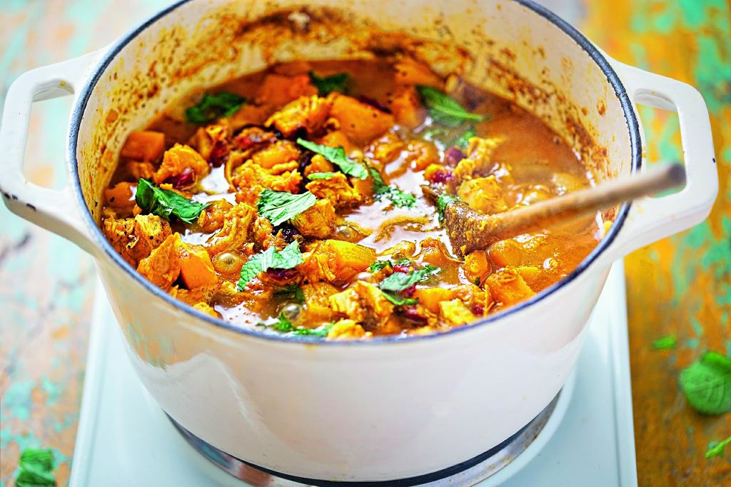 Dyniowa potrawka z indyka gotowa w pół godziny.
