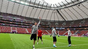 Trening polskich piłkarzy