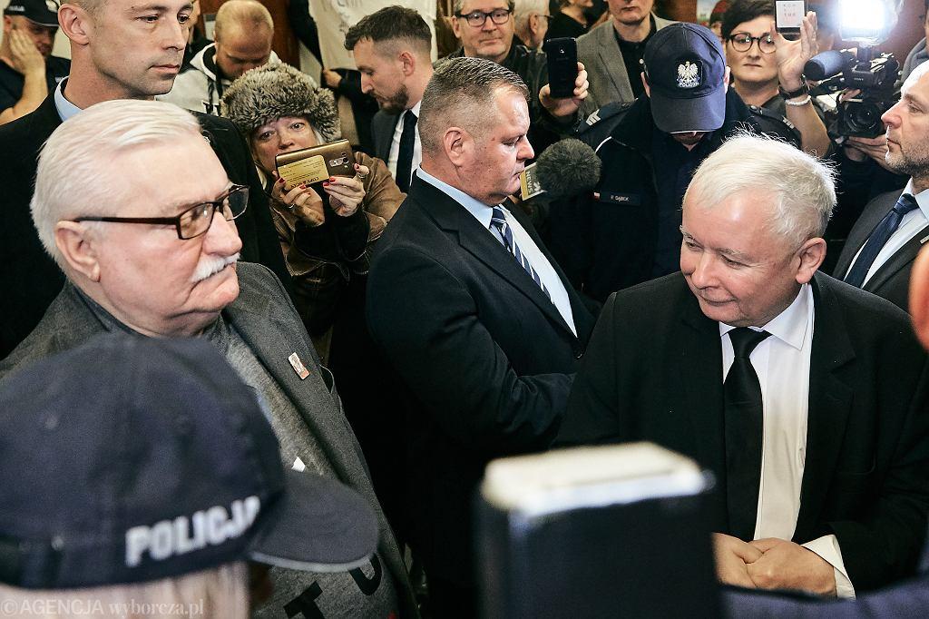 Listopad 2018. Przed rozprawą w procesie wytoczonym Lechowi Wałęsie przez Jarosława Kaczyńskiego