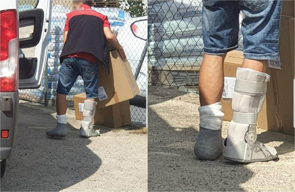 Kurier dostarczał przesyłki w Szczecinku z dwoma złamanymi nogami
