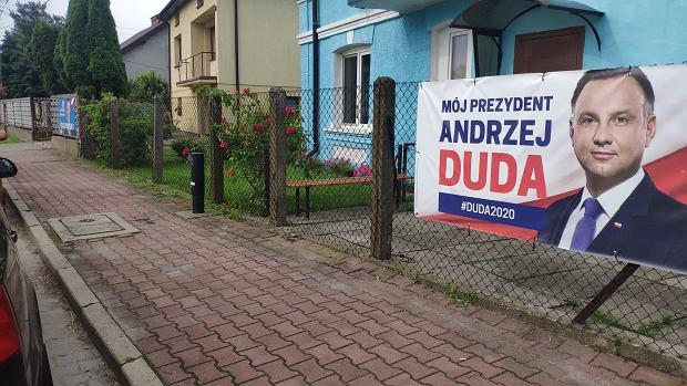 Plakat Andrzeja Dudy w Baranowie