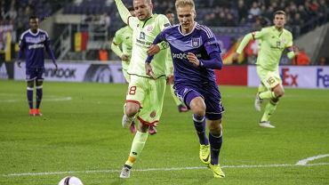 Łukasz Teodorczyk w meczu z Mainz