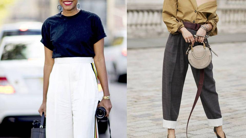 Spodnie dla pań po 50-tce materiałowe z wysokim stanem