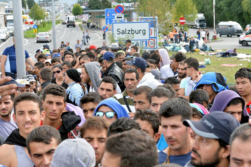 17.09.2015 Uchodźcy w austriackim Salzburgu