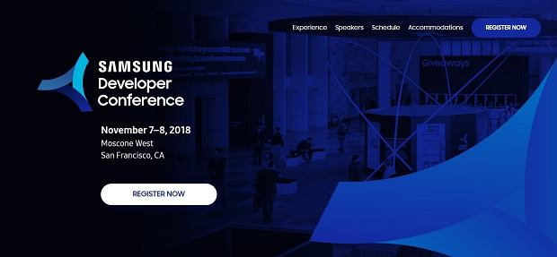 Samsung Developer Conference 2018 w San Francisco